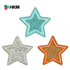 HKM Applicatie ster glitter - 3st