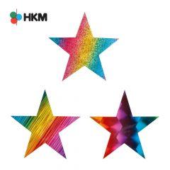 HKM Applicatie ster regenboog - 3st