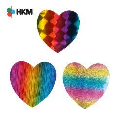 HKM Applicatie hart regenboog - 3st