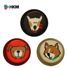 HKM Applicatie honden button - 3st
