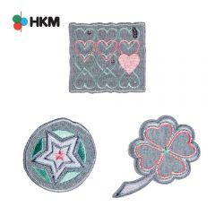 HKM Applicatie klaver-hart-ster - 3st