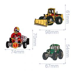 HKM Applicatie bulldozer-kart-buggy - 5st