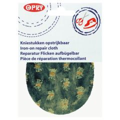 Opry Kniestukken opstrijkbaar jeans12x9,5cm - 5st