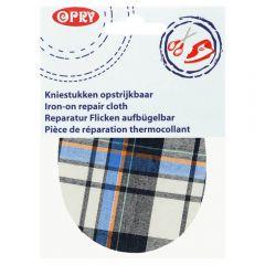 Opry Kniestukken opstrijkbaar geruit12x9,5cm -5st