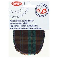 Opry Kniestukken opstrijkbaar geruit 12x9,5cm - 5st