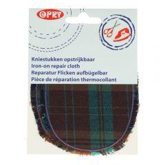 Opry Kniestukken opstrijkbaar geruit met franje - 5st