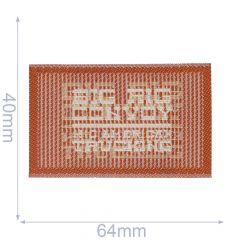 Applicatie Label BIG RIG bruin - 5st
