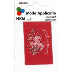 HKM Applicatie label pretty heart - 5st