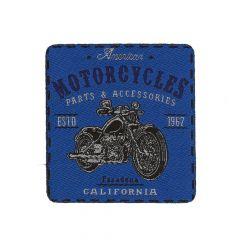 HKM Applicatie motorcycles blauw 6cm - 5st