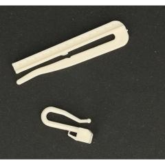 Gordijnhaak insteek verstelbaar 7cm - 100st