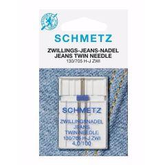 Schmetz Jeans tweeling 1 naald 4.0-100 - 10st