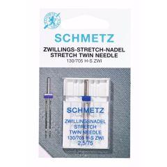 Schmetz Stretch tweeling 1 naald - 10st