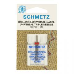 Schmetz Drieling 1 naald 3.0-80 - 10st