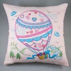 Simy's Borduurpakket voorbed. kussenhoes 40x40cm roze - 1st