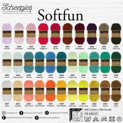 Scheepjes Softfun assortiment 5x50g - 32 kleuren - 1st