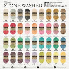 Scheepjes Stone Washed assortiment 5x50g - 36 kleuren - 1st