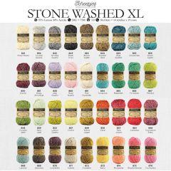 Scheepjes Stone Washed XL assortim. 5x50g - 36 kleuren - 1st