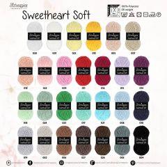 Scheepjes Sweetheart Soft assort. 5x100g - 27 kleuren - 1st