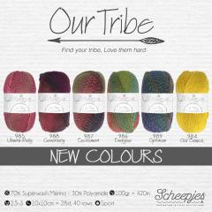 Scheepjes Our Tribe assortiment 5x100g - 6 kleuren - 1st