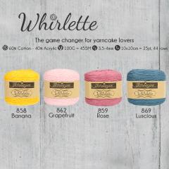 Scheepjes Whirlette assortiment 5x100g - 4 kleuren - 1st