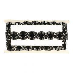 Band zwart met strass 28mm - 10m