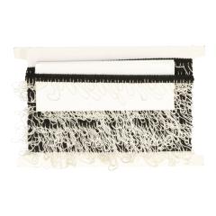 Band met ketting elastisch wit/zwart - 10m