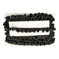 Band rimpel zwart, wit of écru 30mm - 15m