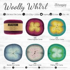 Scheepjes Woolly Whirl assortiment 3x1000m - 5 kleuren - 1st