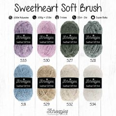Scheepjes Sweetheart Soft Brush assor. 5x100g - 8 kl. - 1st
