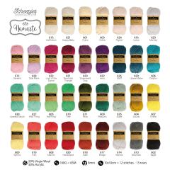 Scheepjes Namaste assortiment 5x100 gr - 34 kleuren - 1st