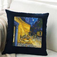 Simy's Studio Borduurpakket kussenhoes 40x40cm blauw - 1st