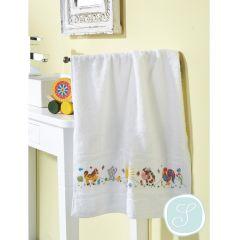 Simy's Studio Borduurpakket handdoek 50x100cm wit - 1st