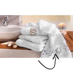 Tissu de Marie Borduurpakket handdoek 50x100cm wit - 1st