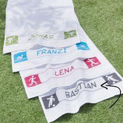 Tissu de Marie Borduurpakket sporthanddoek 50x100cm - 1st
