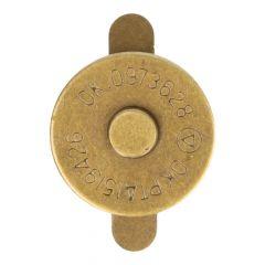 Magneetknopen 18mm - nikkel of goudkleur
