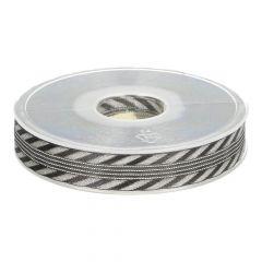Lint zwart-zilver 2,0cm