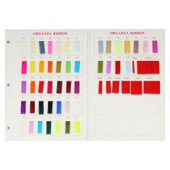 Organza de luxe kleurkaart - 1st