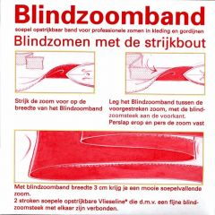Vlieseline Blindzoomband 30mm - 50m