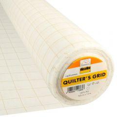 Vlieseline Quilter's grid 90cm wit - 15m