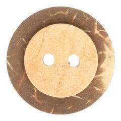 """Houten knoop kokos-licht 20"""", 24"""", 28"""", 32"""", 36"""" - 50st"""