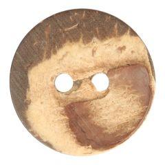 Houten knoop kokosnoot maat 18-120 - 25-50st