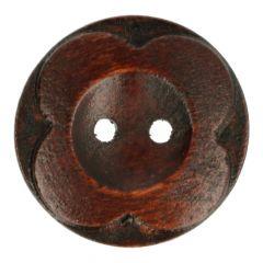Houten Knoop bloem 32 - 50st.