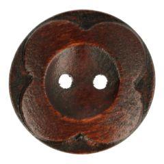 Houten Knoop bloem 36 - 50st.