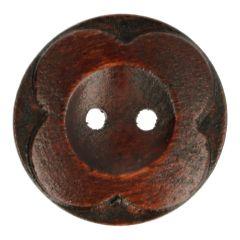 Houten Knoop bloem 60 - 30st.
