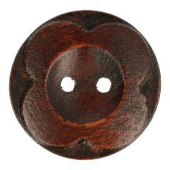 Houten Knoop bloem 90 - 25st.