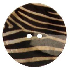 Knoop parelmoer print maat 54 - 33,75mm - 30st