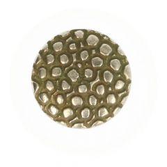 Knoop oud zllver bewerkt op steel - 50st