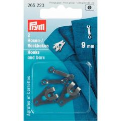 Prym Broek- en rokhaken met staven 9mm - 5x2st