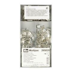 Prym Broekhaken en -staafjes + afdekplaat ST 13mm zilv -1st