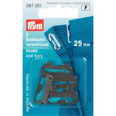 Prym Rokhaken staal 25mm - 5x2st